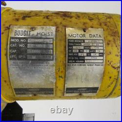Budgit C-408-2 1/2 Ton Electric Chain Hoist 10' Lift 16FPM 115V Single Phase 1Ph