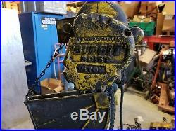 Budgit Electric Chain Hoist 1/4 Ton 115v 500 lbs Vintage
