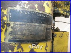 Budgit Electric Hoist Winch 1/2 Ton Pull Cord 115v 10' Roller Chain 40495618