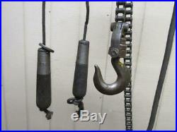Budgit M699 Electric Roller Chain Hoist 1 Ton 2000 Lbs 3 PH 9' Ft. Lift