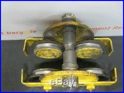 Budgit Trolley 2 Metric Ton Chain Hoist Overhead I-Beam 4000lb Electric