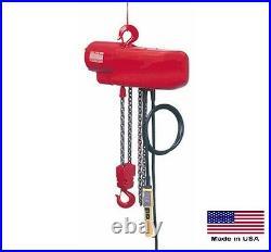 CHAIN HOIST Electric Industrial 2000 Lb Cap 1 Hp 115/230V 20 Ft Lift