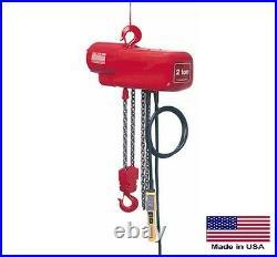 CHAIN HOIST Electric Industrial 4000 Lb Cap 1 Hp 230/460V 10 Ft Lift