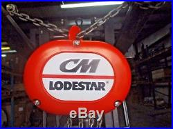 CM 1/2 Ton Electric Chain Hoist, #1211028h New