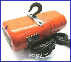 CM 1/8 TON ELECTRIC CHAIN HOIST with PENDANT CONTROL #A