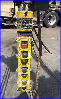 CM 1TON Electrical Chain Hoist & DR David Round Electric Trolley