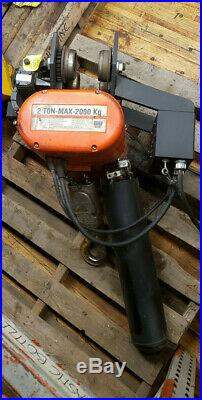 CM 2 Ton capacity electric Chain Hoist with 635 motorized power trolley, crane