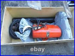 CM 2 Ton electric chain hoist 26' lift, possibly 43.5 of lift, 87' chain, Mod R