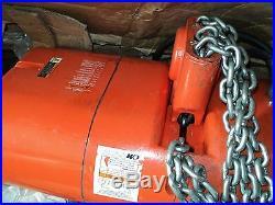 CM Columbus McKinnon, 9534NH Electric Chain Hoist, 6000 lb, 10 ft