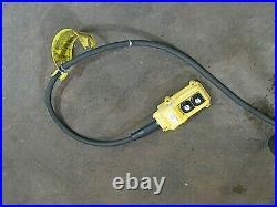 CM Columbus Mckinnon Electric Chain Hoist Model J 1000lbs 1/2 Ton 180 Drop