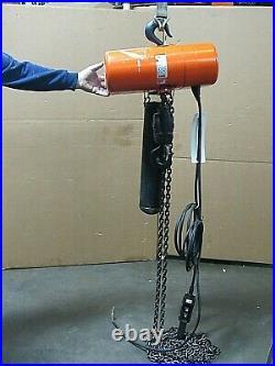 CM Columbus Mckinnon Electric Chain Hoist Model Rr 4000lbs 2 Ton