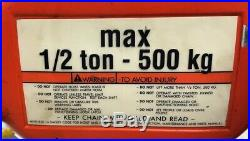 CM E2 CHAIN HOIST 1/2-TON MOTOR DRIVEN TROLLEY 32-FT/CHAIN SERIES-635 8' fpm