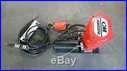 CM Electric Chain Hoist Lodestar 1 Ton 1/2 Horse