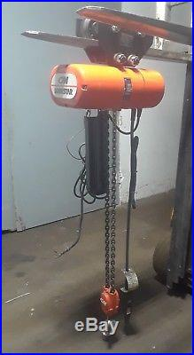 CM Hoist 2 Speed Model R2 2 Ton Electric Chain Hoist with Trolley with Manual