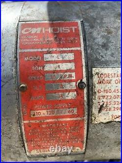 CM Hoist Lodstar L 1 ton Electric Chain Hoist (10 ft lift)
