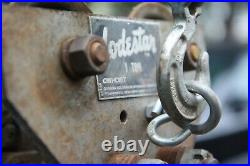 CM LODESTAR 1/2 Ton Electric Chain Hoist with Trolley 3-phase 230/460 Reeve Hook