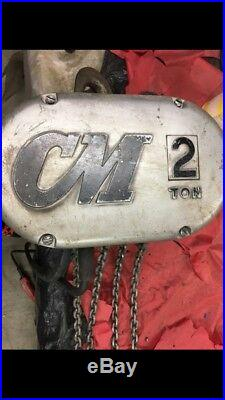 CM LODESTAR 2 TON ELECTRIC CHAIN HOIST 220/440volts 3phase Double Reeved