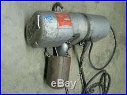 CM LODESTAR F2 1/2 Ton Electric Chain Fall Lifting Hoist 3-phase 440-480 volt AC