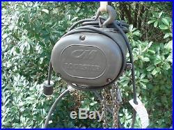 CM LODESTAR MODEL F 1/2 TON ELECTRIC CHAIN HOIST 16FPM 115 Volts 1-PH