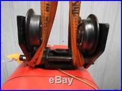 CM LODESTAR Model L 1 Ton Electric Chain Hoist 16FPM Push Trolley 20' Lift 3Ph
