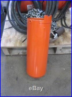 CM Loadstar 1/4 ton electric Chain Hoist model B 30' chain 26' control, 15 power