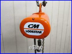 CM Loadstar Model B Electric Chain Hoist 1/4 Ton 500 Lbs 1 PH 115v 10' Lift