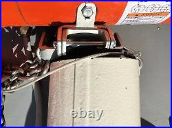 CM Loadstar Model F- 1/2 Ton, 500kg Electric Chain Hoist with Hook Suspension