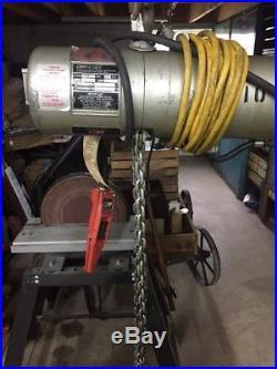 CM Loadstar Model H 1 Ton 8 Fpm 1/2Hp 3Ph Electric Chain Hoist WithPendant