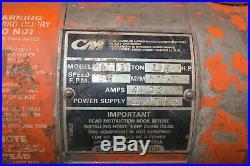 CM Loadstar Model H 1 Ton Electric Chain Hoist Pendant Control
