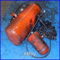 CM Lodestar 1/2-ton Electric Chain Hoist, No Label Wks