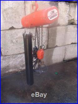 CM Lodestar 2 Ton Electric Chain Hoist 120 Volts 40 Feet Rise