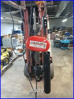 CM Lodestar 2 Ton Electric Chain Hoist 230/460 Volts