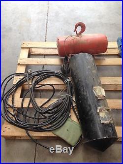 CM Lodestar 2 Ton Electric Chain Hoist 50 FT of Lift (100+ ft chain)