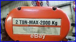 CM Lodestar 2 Ton Electric Hoist 10' Chain includes shipping 48 states