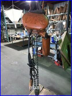 CM Lodestar 2 ton Electric CHAIN Hoist With Trolley