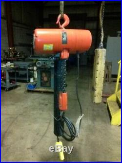 CM Lodestar 3 Ton Electric Chain Hoist Model Rrt, 3 Phase, 2 Hp, 10' Of Lift