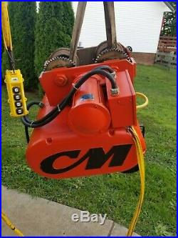CM Lodestar 3 Ton Electric Chain Hoist With Motorized Trolley