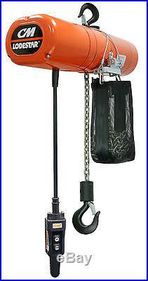 CM Lodestar 3151NH Electric Chain Hoist Model F 1/2 Ton 15ft 115v