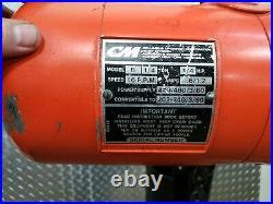 CM Lodestar Chain Hoist 1/4 Ton 10 ft Lift 5 ft pendant 16 FPM