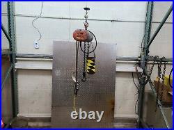 CM Lodestar Chain Hoist 1/4 Ton 10 ft Lift 6 ft pendant 16 FPM 115v Model B