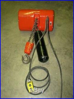 CM Lodestar Electric 2 Ton Lift Chain Fall Lifting Hoist 3-phase 230-460 volt AC