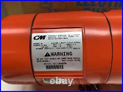 CM Lodestar Electric Chain Hoist 1/4 Ton 10ft Lift 16 FPM Model B 110/120V New