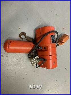 CM Lodestar Electric Chain Hoist 1/4 Ton 10ft Lift 16 FPM Model WB 110/120V