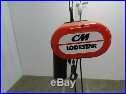 CM Lodestar Electric Chain Hoist 1 Ton 2000 LB 15' Lift 120 Volt 1PH 16 FPM