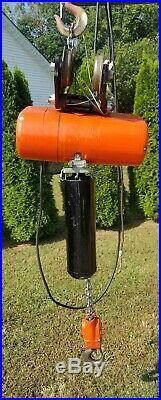 CM Lodestar Electric Chain Hoist 2 Ton 4000lbs 460v 208v 3phase 15 ft Lift