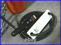 CM Lodestar Electric Chain Hoist 2 Ton Cap. 15 Ft. Lift 440-480v 3 Ph. DAMAGED