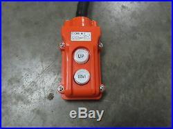 CM Lodestar Electric Chain Hoist 2 Ton Model R 115V 1PH 19' Lift Load Tested