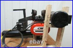 CM Lodestar Electric Chain Hoist 3 Ton 11'6 Lift 2 Speed 635 Power Trolley 230V