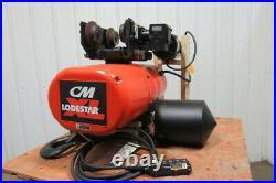 CM Lodestar Electric Chain Hoist 3 Ton 14' Lift 2 Speed 635 Power Trolley 230V