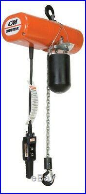 CM Lodestar Electric Chain Hoist Model A 1/8 Ton 10ft Lift 32 fpm